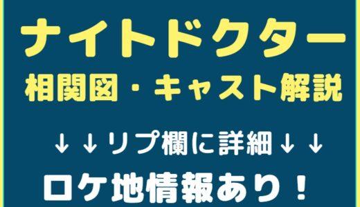 ナイトドクター(ドラマ)相関図・キャスト解説!ナレーションは誰!?