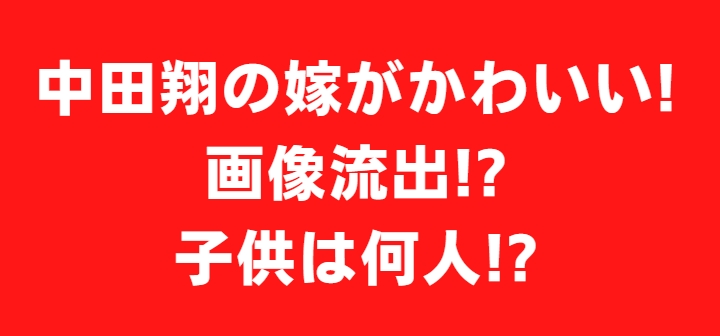 中田翔 嫁 奥さん 画像 子供 名前